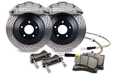 stoptech touring big brake kit 6 piston silver drilled sample