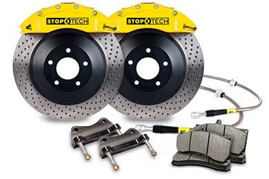 stoptech touring big brake kit 6 piston yellow drilled sample