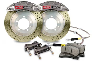 stoptech trophy sport big brake kit 6 piston drilled zinc coated sample
