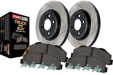 stoptech slotted truck brake kit front sample