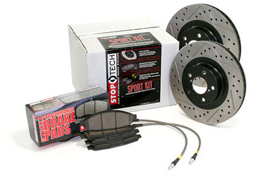 stoptech sport brake kit drilled slotted front rear