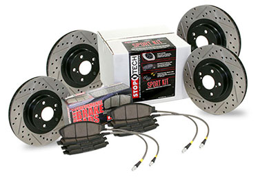 stoptech sport brake kit drilled slottted 4 wheel
