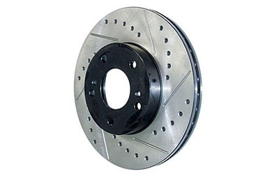 stoptech sportstop drilled slotted brake rotors left