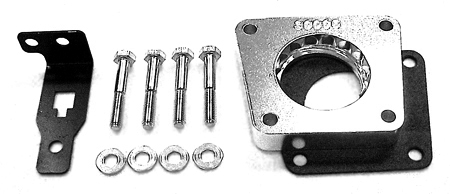 street and performance technology helix throttle body spacer 30005