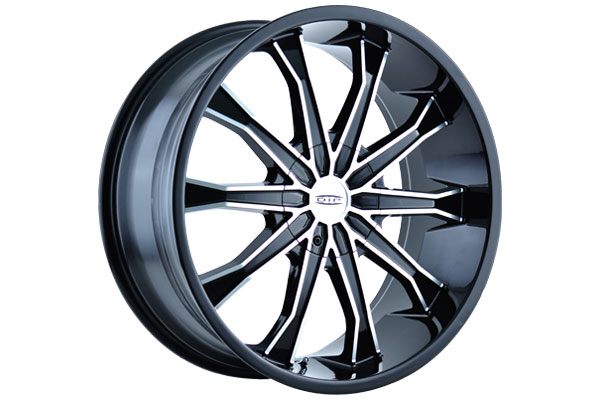 dip motar wheels black with machined face sample