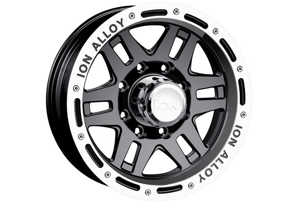 ion alloy 133 wheels black with machined lip sample