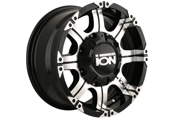 ion alloy 187 wheels black with machined face and lip sample