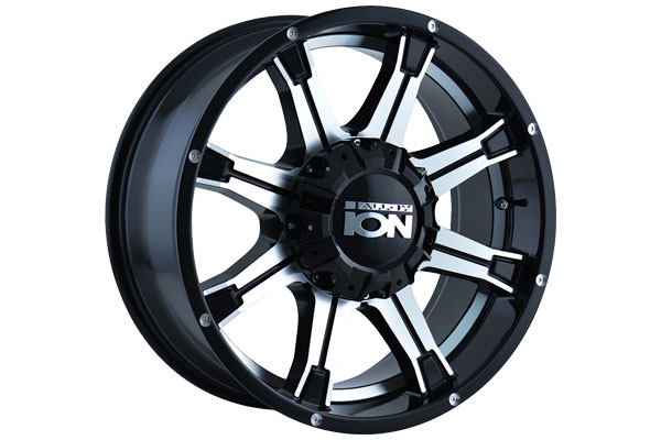 ion alloy 196 wheels black with machined face and undercut sample