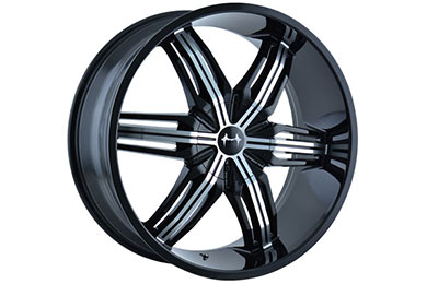 mazzi rush wheels black with machined face sample