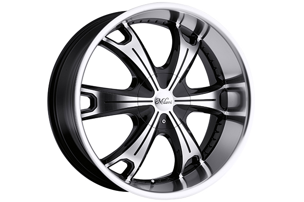 milanni 452 stellar wheels gloss black with machined face and lip sample