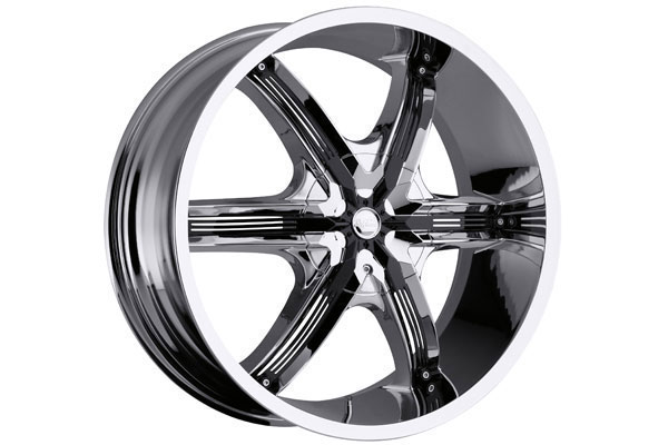 milanni 460 bel air 6 wheels chrome with black accents sample