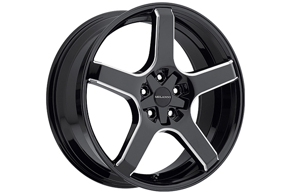 milanni 464 vk 1 wheels gloss black with milled accents sample
