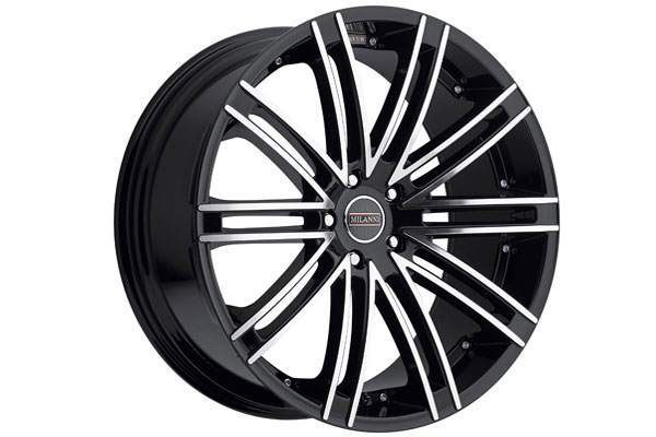 milanni 9032 kahn wheels gloss black with machined face sample