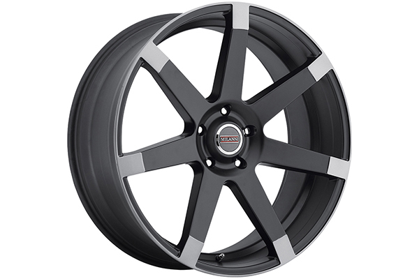 milanni 9042 sultan wheels matte black with anthracite spoke ends sample