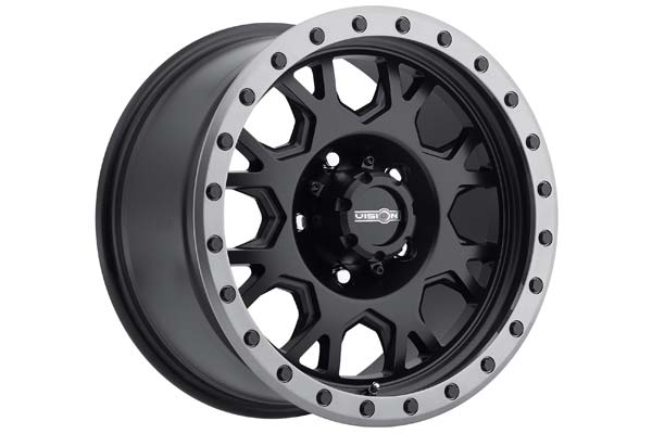 vision gv8 invader wheels matte black anthracite lip
