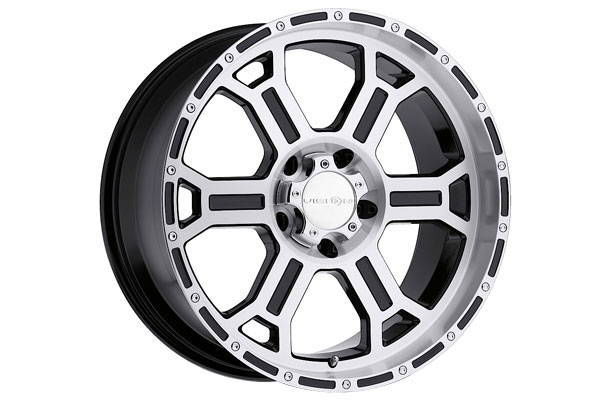 vision 372 raptor wheels gloss black machined face and lip 5 sample