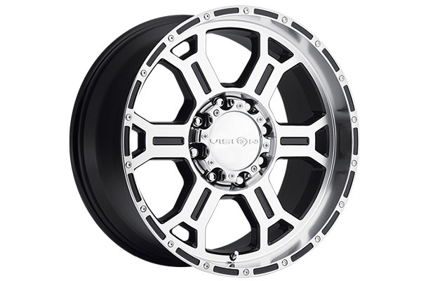 vision 372 raptor wheels gloss black machined face and lip 8 sample