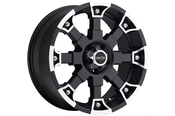 vision 392 brutal wheels matte black with machined accents 5 sample