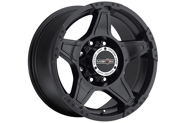vision 395 wizard wheels matte black 8 lug sample
