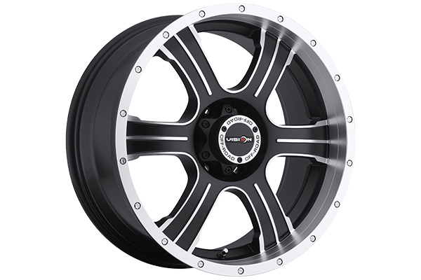 vision 396 assassin wheels matte black with machined accents sample
