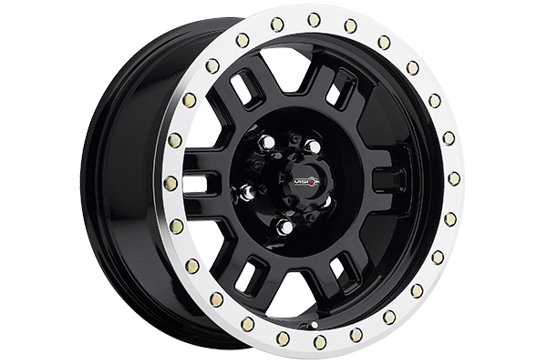 vision 398 manx wheels gloss black with machined lip sample