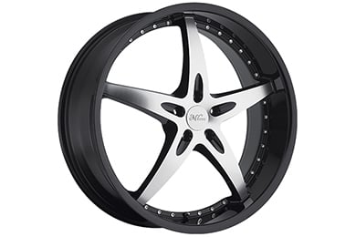 milanni 453 zs 1 wheels gloss black with machined face sample