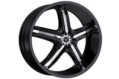 milanni 459 bel air 5 wheels gloss black with chrome accents sample