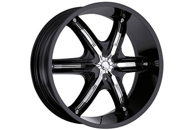 milanni 460 bel air 6 wheels gloss black with chrome accents sample