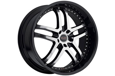 milanni 9012 kapri wheels gloss black with machined face sample