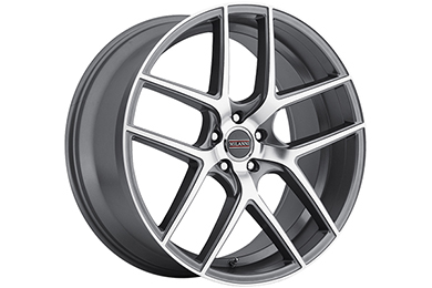 milanni 9052 tycoon wheels graphite mirror with machined face sample
