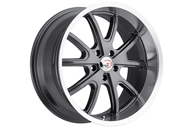 vision 143 torque wheels gunmetal with machined lip sample