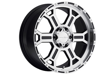 vision 372 raptor wheels gloss black machined face and lip 6 sample
