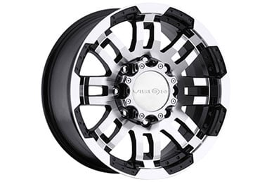 vision 375 warrior wheels gloss black machine face 6 sample