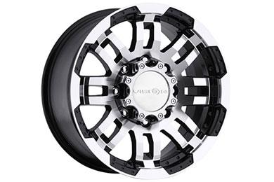 vision 375 warrior wheels gloss black machine face 6 sample