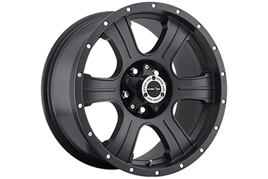 vision 396 assassin wheels matte black with chrome bolts sample