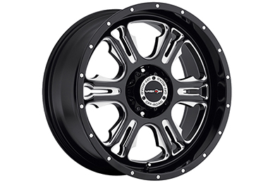 vision 397 rage wheels gloss black with milled spokes sample