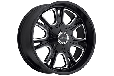 vision 3992 storm wheels matte black with milled spokes sample