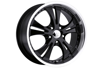vision 539 shockwave wheels gloss black with machined lip sample