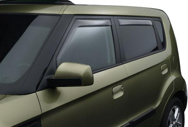 WeatherTech Custom Fit Front & Rear Side Window Deflectors for Kia ...