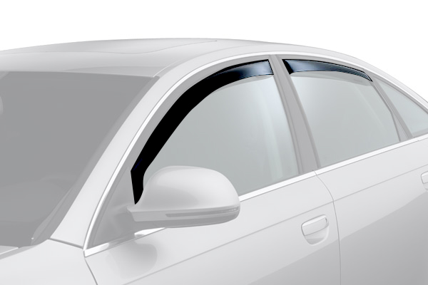 weathertech window deflector dark smoke car front rear