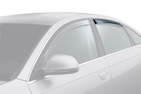 weathertech window deflector dark smoke car rear
