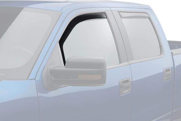 weathertech window deflector dark smoke truck front