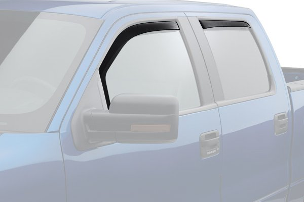 weathertech window deflector dark smoke truck front rear