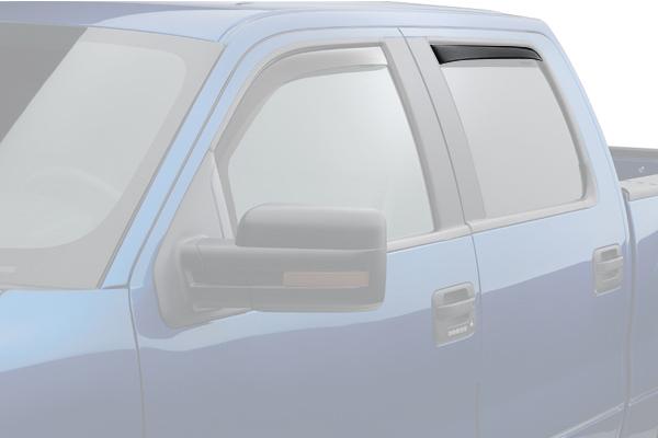 weathertech window deflector dark smoke truck rear