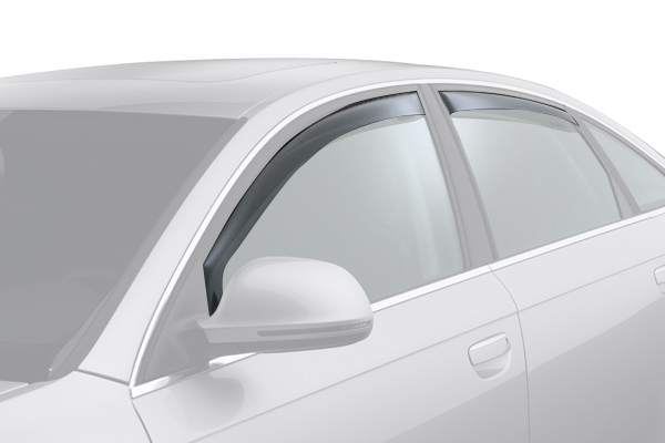 weathertech window deflector light smoke car front rear