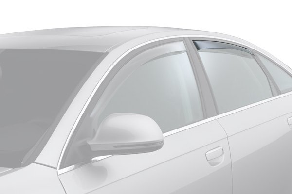 weathertech window deflector light smoke car rear