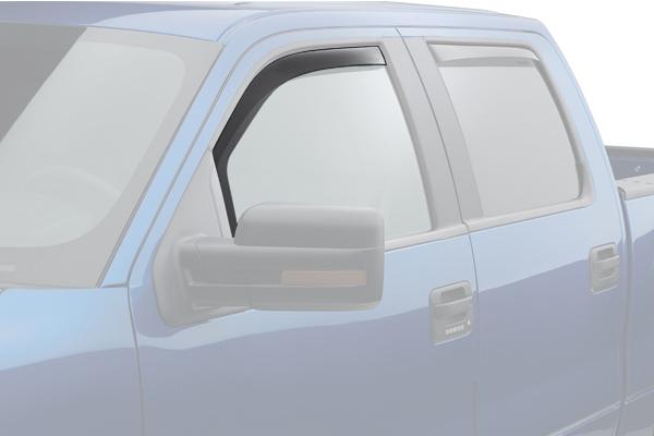 weathertech window deflector light smoke truck front