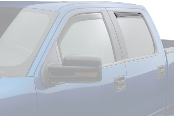 weathertech window deflector light smoke truck rear