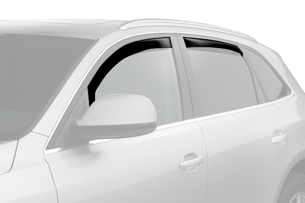 weathertech window deflector suv dark smoke front rear