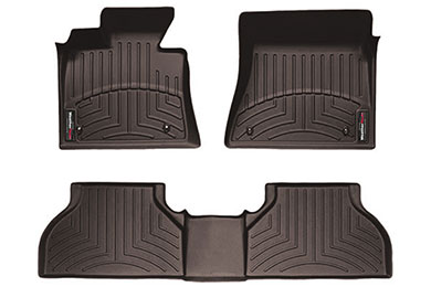 weathertech extreme duty liners 1st row 2pc 2nd row 1pc cocoa